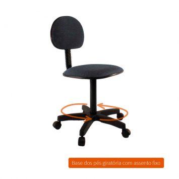 Cadeira de Escritório Secretária Base Giratória Direction I Cinza