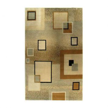 Tapete Marbella Quadrado Preto 248x350 cm Rayza