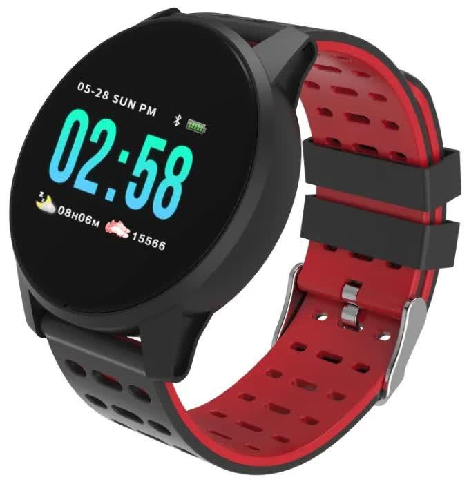 Умные часы Qumann QSW 01 Black+Red