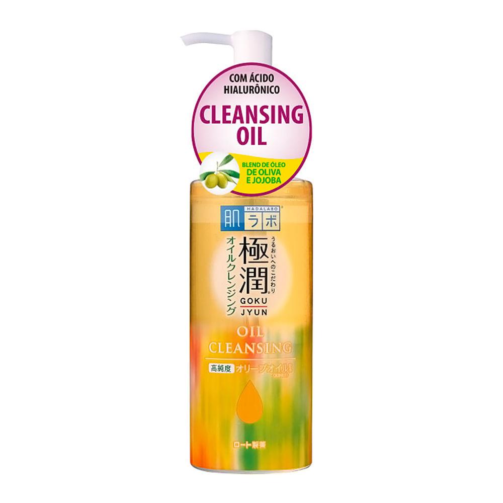 Demaquilante Facial Hada Labo Gokujyun Cleansing Oil com Óleo de Oliva e Jojoba 200ml