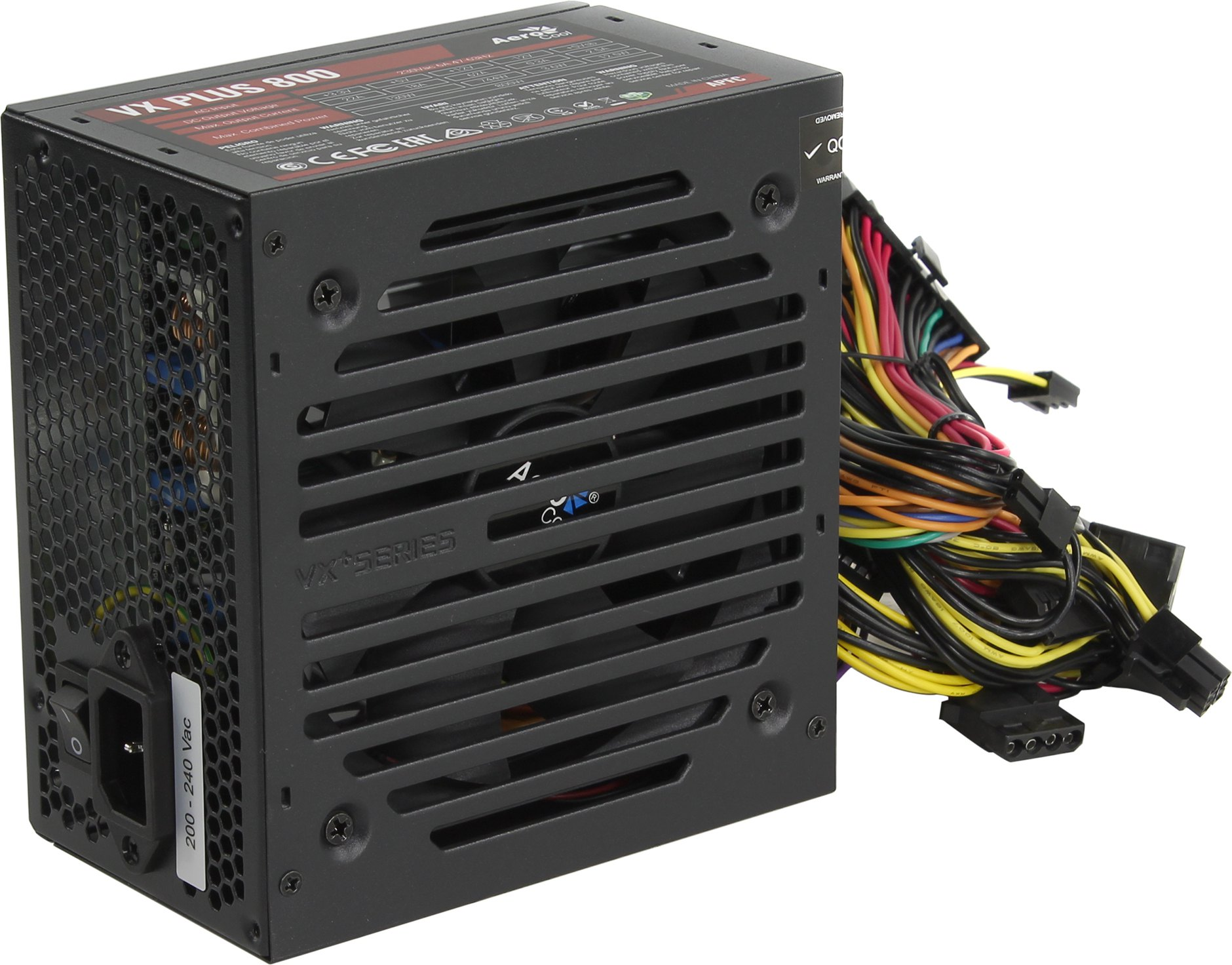 Блок питания AeroCool 800W Retail VX PLUS 800, ATX v2.3