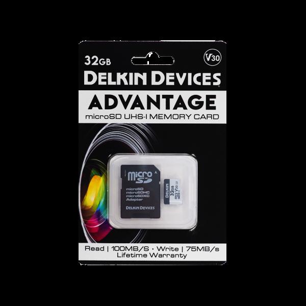 Карта памяти Delkin Devices Advantage microSDHC 32GB 660X UHS-I Class 10 V30 (DDMSDW66032G)