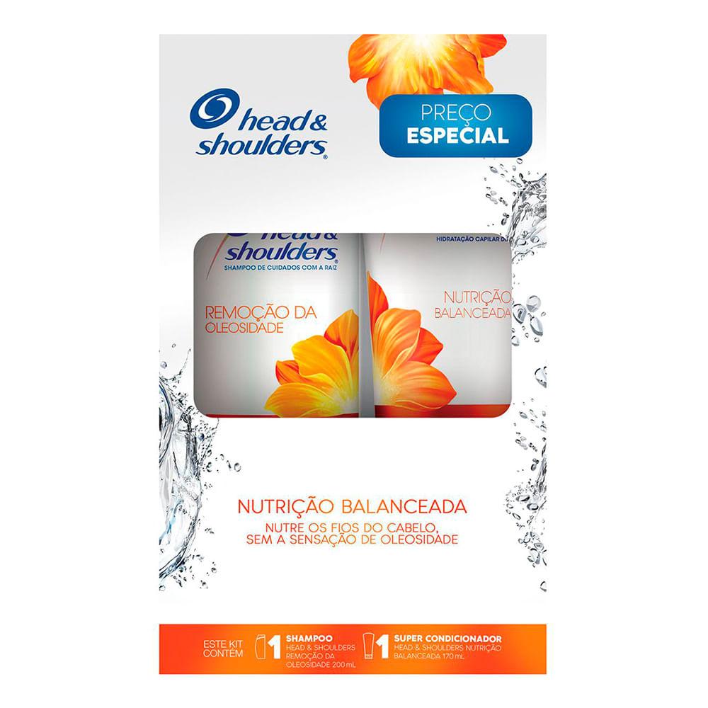 Shampoo Head & Shoulders Remoção da Oleosidade 200ml + Super Condicionador Head & Shoulders Nutrição Balanceada 170ml