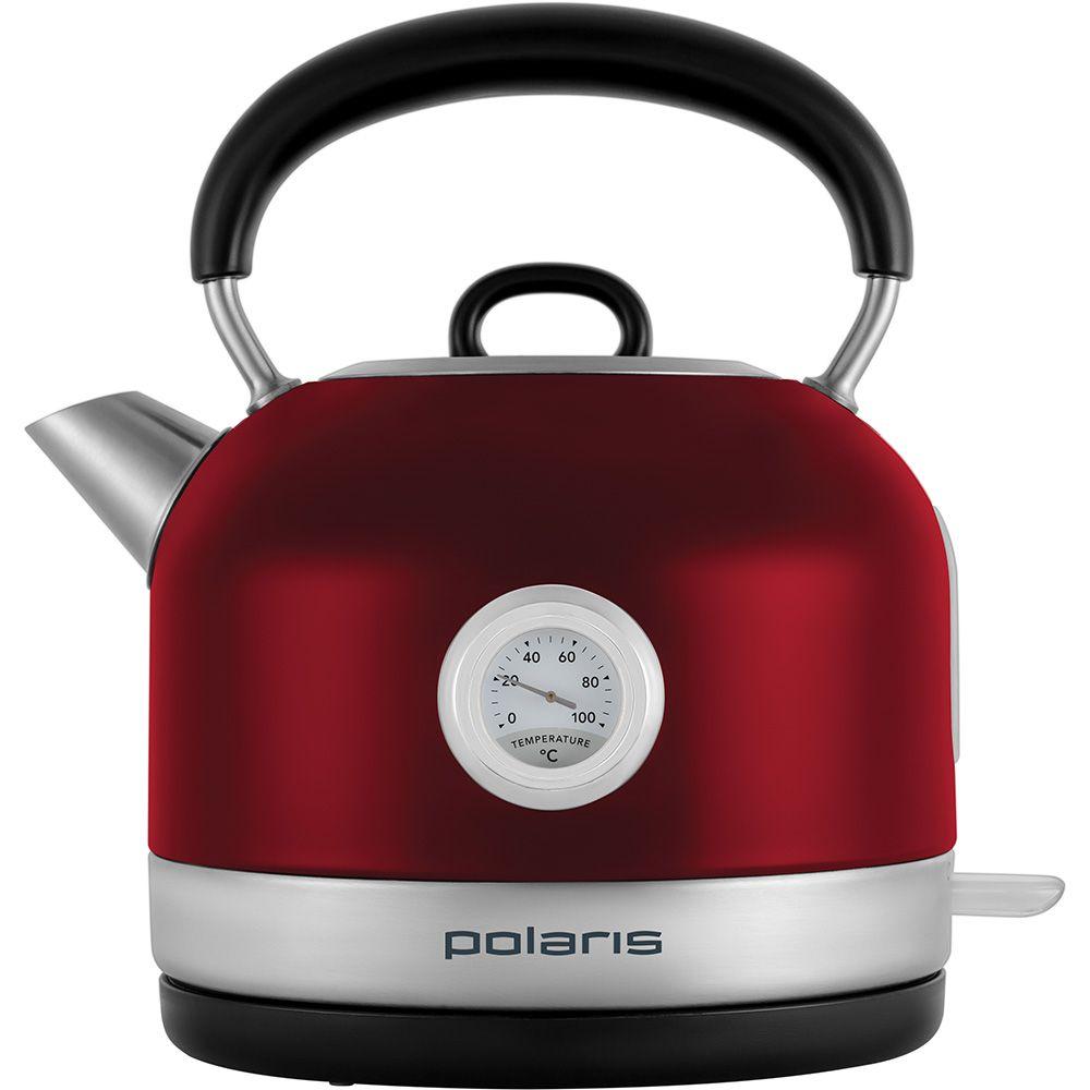 Чайник электрический Polaris PWK 1769CA Retro 1.7л. 2200Вт красный/серебристый (корпус: нержавеющая сталь)