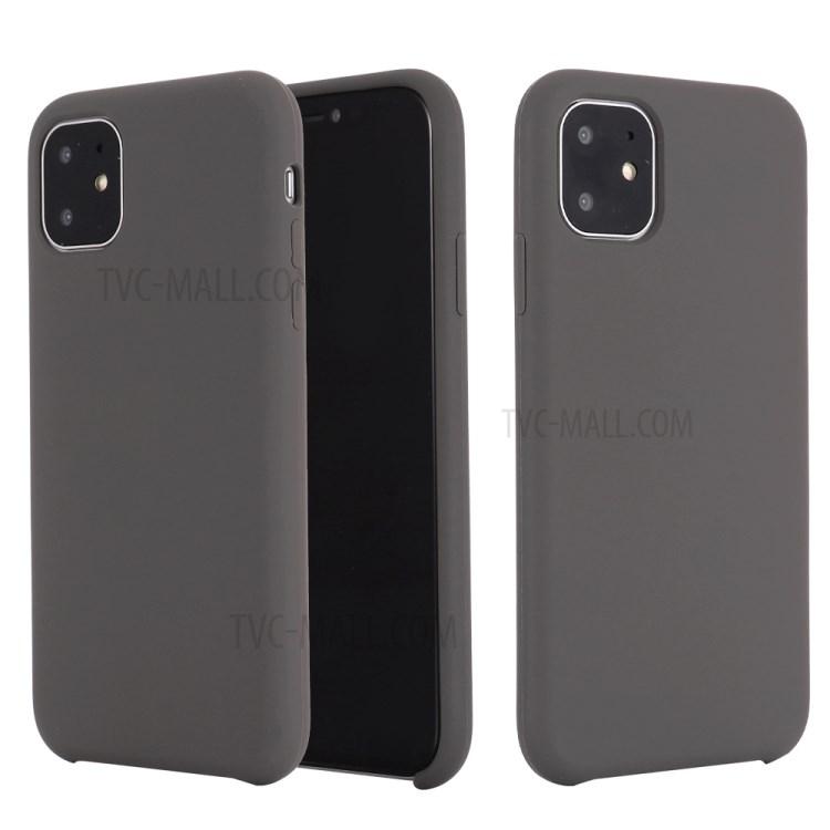 Мягкий Жидкий Силиконовый Чехол Для Телефона Для Iphone 11 6.1 Дюймов (2019) - Серый