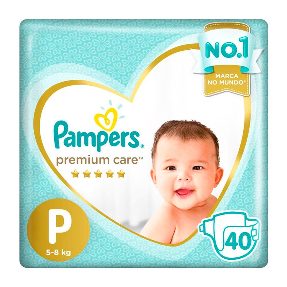 Fralda Pampers Premium Care Pacote Mega Tamanho P 40 Fraldas Descartáveis