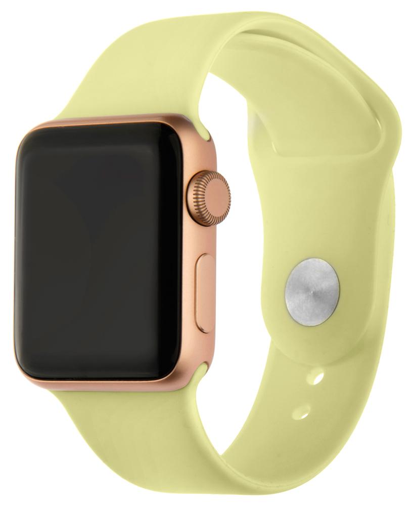 Ремешок для умных часов InterStep Sport Apple Watch 38/40мм силиконовый Yellow
