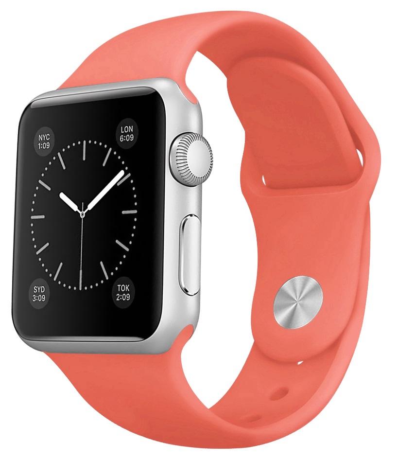 Ремешок для умных часов Everstone ES-AWBS-107 Apple Watch 38/40мм силиконовый Coral