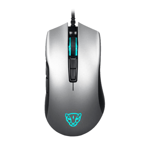 Mouse Gamer USB V70 Motospeed Essential Edition 7 Botões 7000 DPI RGB Cinza