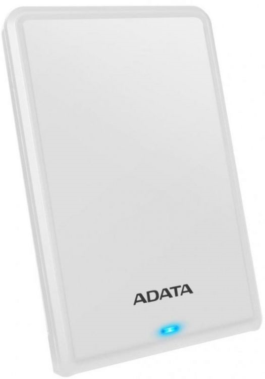 "Внешний HDD A-DATA 2TB HV620S 25"" USB 3.1 Slim белый (AHV620S-2TU31-CWH)"