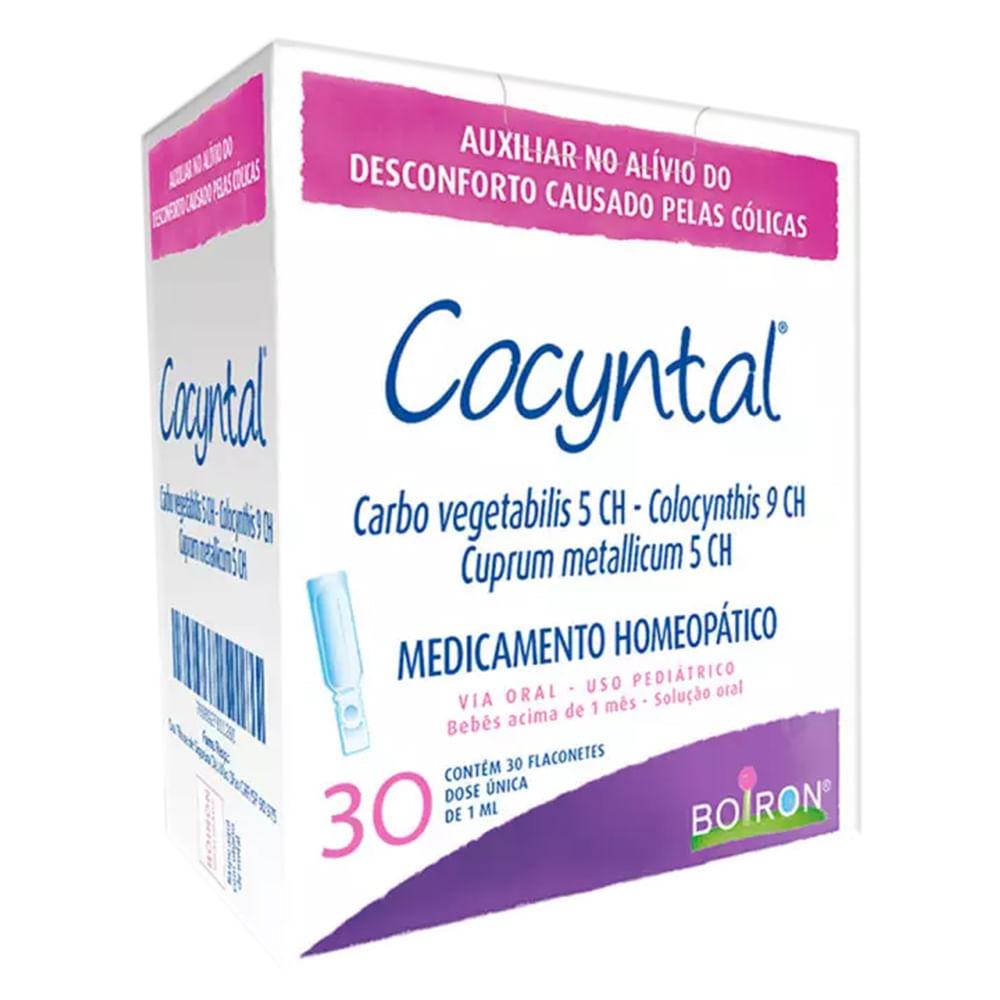 Cocyntal Boiron Flaconetes com 30 unidades de 1ml cada