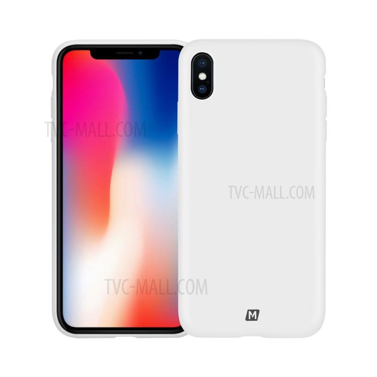 MOMAX Для Iphone XS Max 6.5 Дюймовый Жидкостный Силиконовый Чехол Для Мобильного Телефона Поддерживает Беспроводную Зарядку - Белый