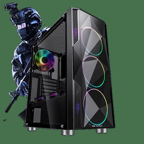 Pc Gamer E-Sports Neologic NLI81706 Intel i3-9100F 8GB (GTX 1660 6GB) 1TB