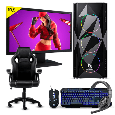 Pc Gamer Completo Neologic Start NLI81699 Ryzen 3 3200G 8GB (Radeon Vega 8 Integrado) 1TB + Cadeira Gamer