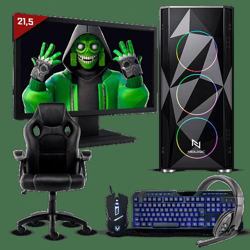 Pc Gamer Completo Neologic Start NLI81695 Ryzen 3 3200G 8GB (Radeon Vega 8 Integrado) 1TB + Cadeira Gamer