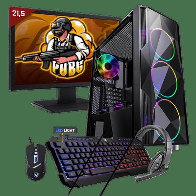 Kit Pc Gamer Neologic Start NLI81691 Ryzen 3 3200G 8GB (Radeon Vega 8 Integrado) 1TB + Monitor 21,5