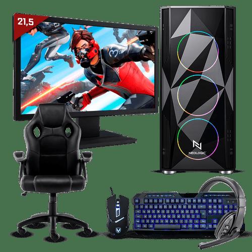 Pc Gamer Completo Neologic Start NLI81693 Ryzen 3 2200G 8GB (Radeon Vega 8 Integrado) 1TB + Cadeira Gamer