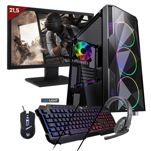 Kit Pc Gamer Neologic Start NLI81689 Ryzen 3 2200G 8GB (Radeon Vega 8 Integrado) 1TB + Monitor 21,5