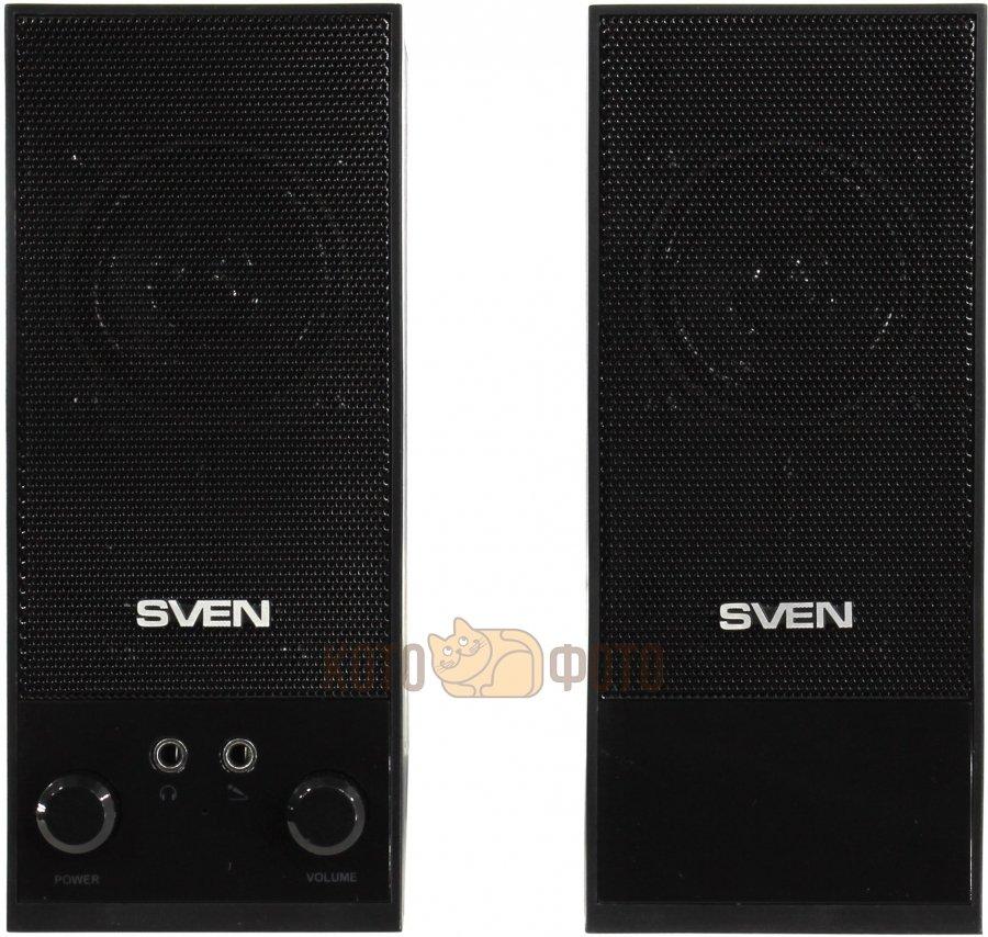 Колонки Sven SPS-604 2.0 черный 4Вт
