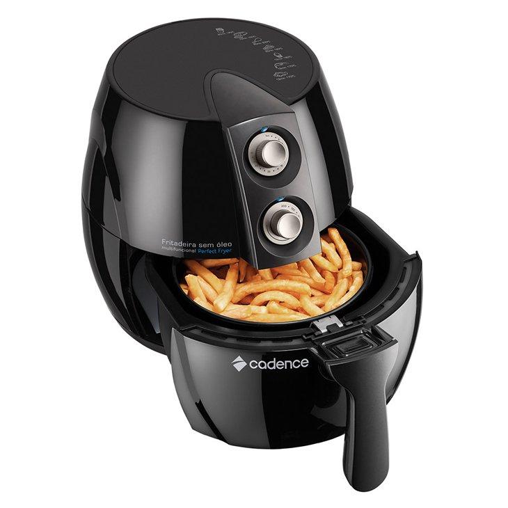 Fritadeira Elétrica Sem Óleo Cadence, Perfect Fryer, FRT531, Preto