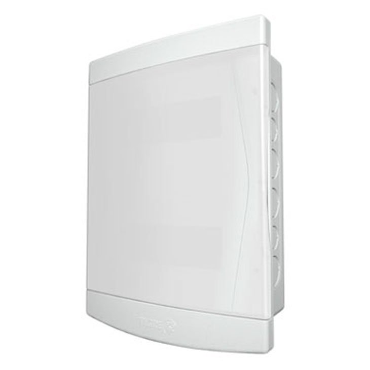 Caixa para Disjuntor Tigre, 12/16 Disjuntores, Com Barramento, Branco - 8580