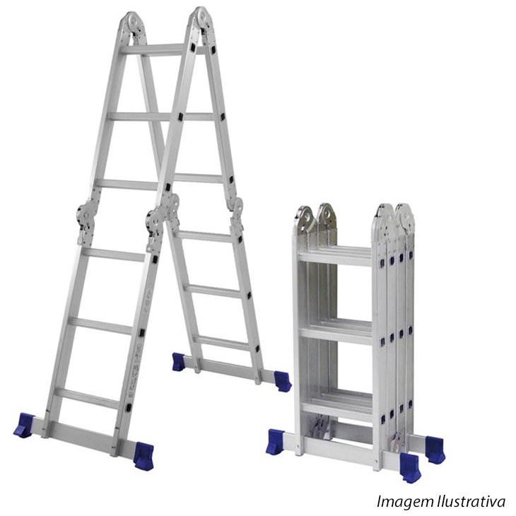 Escada de Alumínio Mor Multiuso, 12 Degraus - 5131