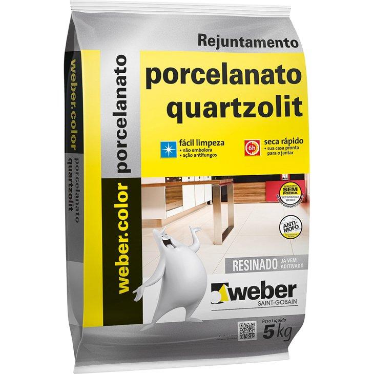 Rejunte para Porcelanato Quartzolit Branco, 5 Kg