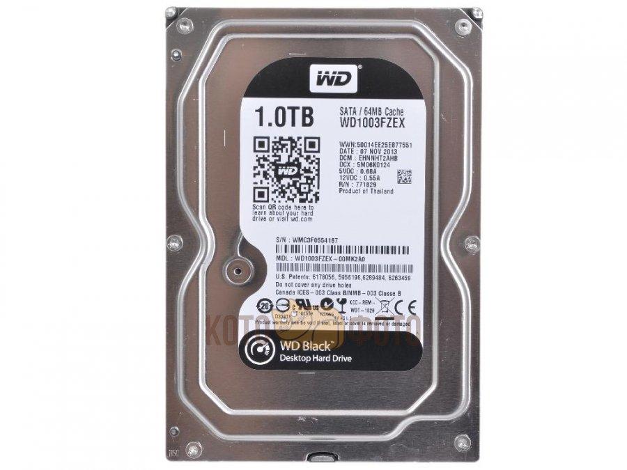 Жесткий диск WD Black 1Tb (WD1003FZEX)