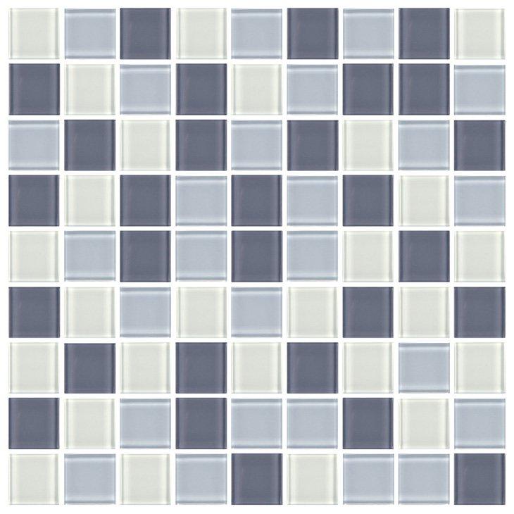 Pastilha de Vidro Henry, Azul e Branco LF110, 29,2 x 29,2 cm