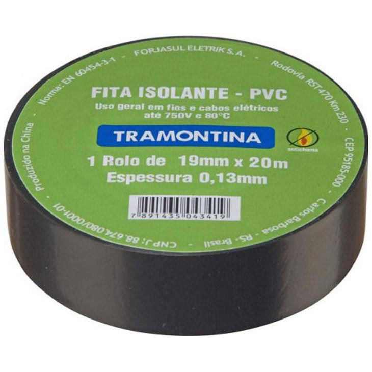 Fita Isolante Tramontina 20 metros, 13 x 19 - 57540/020