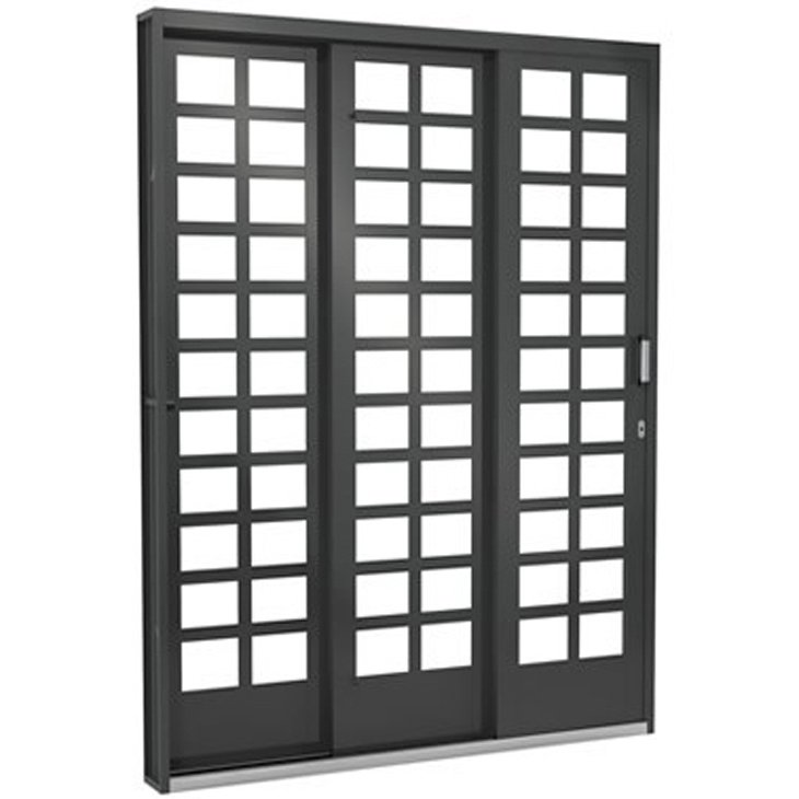 Porta Janela de Aço Vitrô Ramassol Fortsol, abertura a direita, 152 x 215 cm - 519014