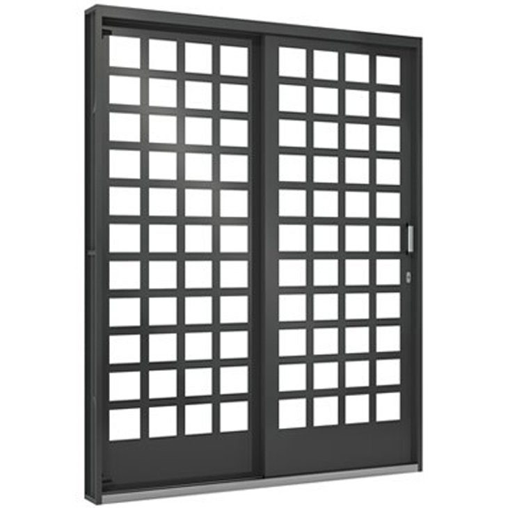 Porta Janela de Aço Vitrô Ramassol Fortsol, abertura a direita, 160 x 215 cm - 518014