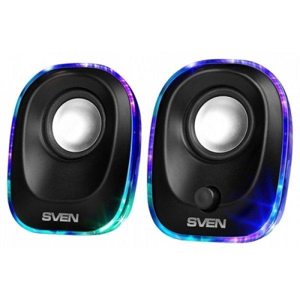 Колонки Sven 330 2.0 черный 5 Вт
