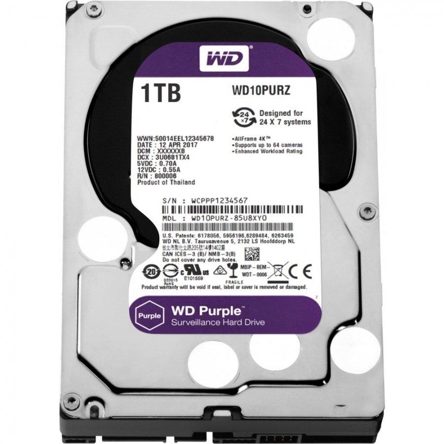 Жёсткий диск WD Purple 1Tb (WD10PURZ)