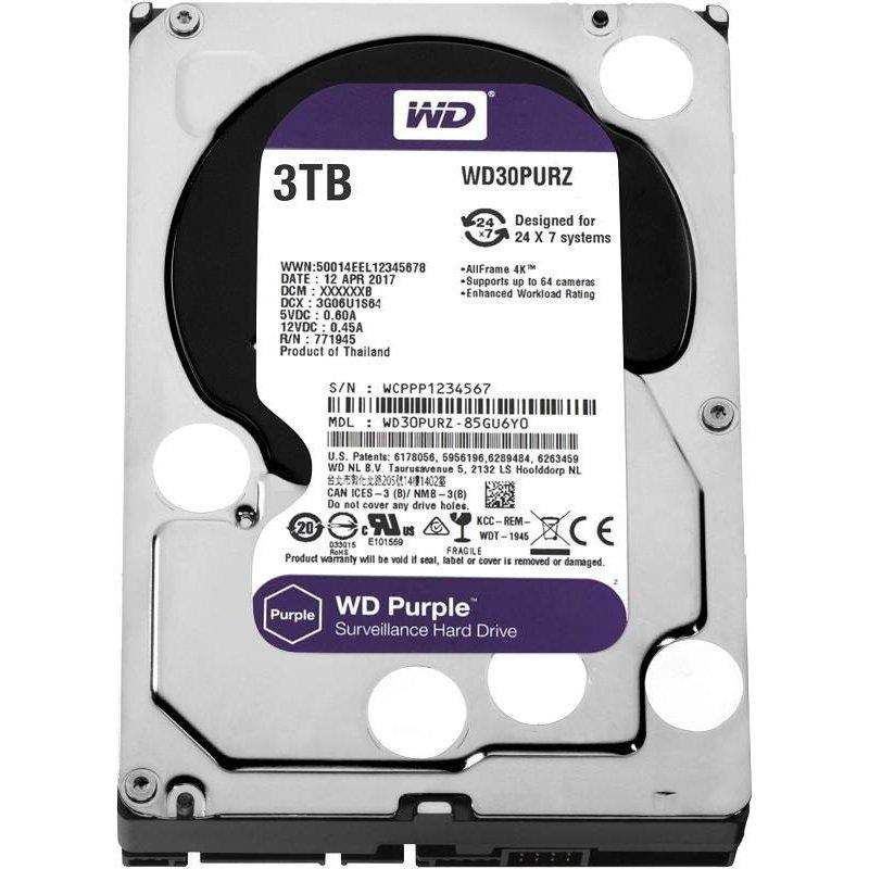 Жёсткий диск WD Purple 3Tb (WD30PURZ)