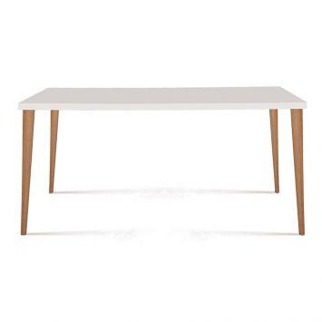 Mesa de Jantar Retangular Cripa Branco 135cm
