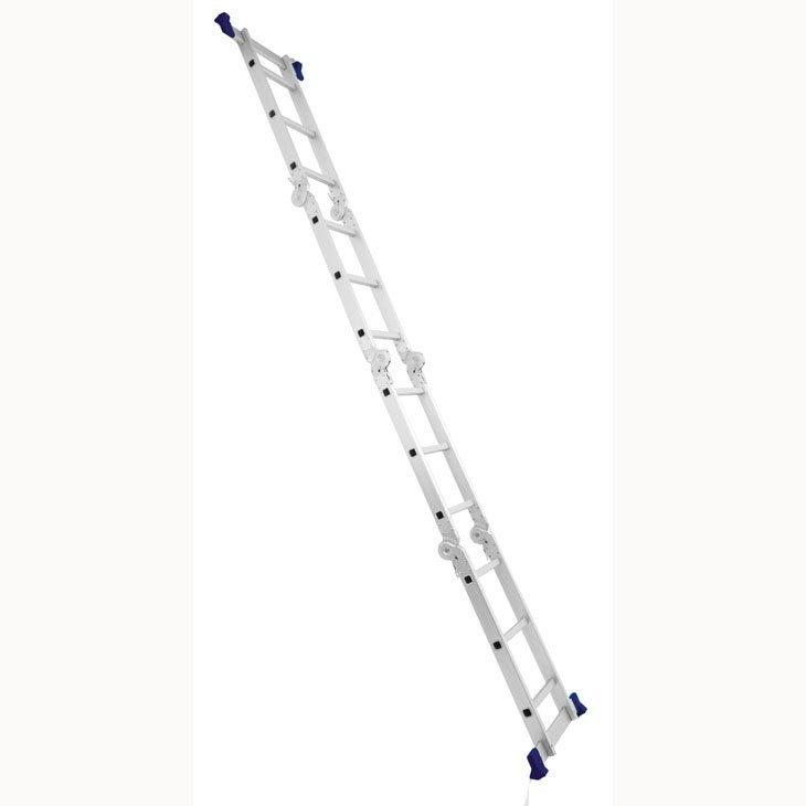 Escada de Alumínio Mor Multiuso, Com Plataforma, 12 Degraus - 5133