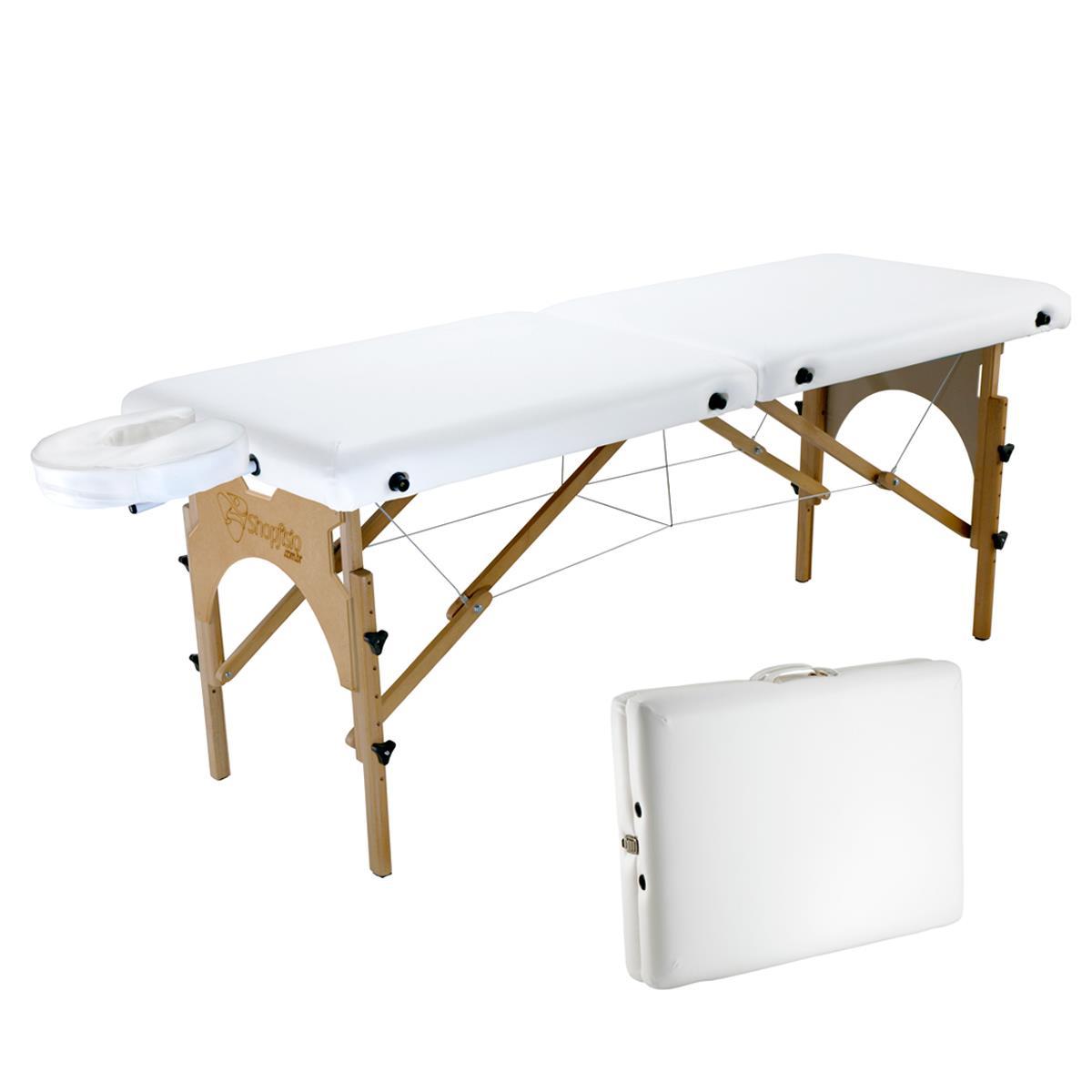 Maca De Massagem Portátil Com Altura Regulável E Orifício Para Quiropraxia E Osteopatia - Shopfisio