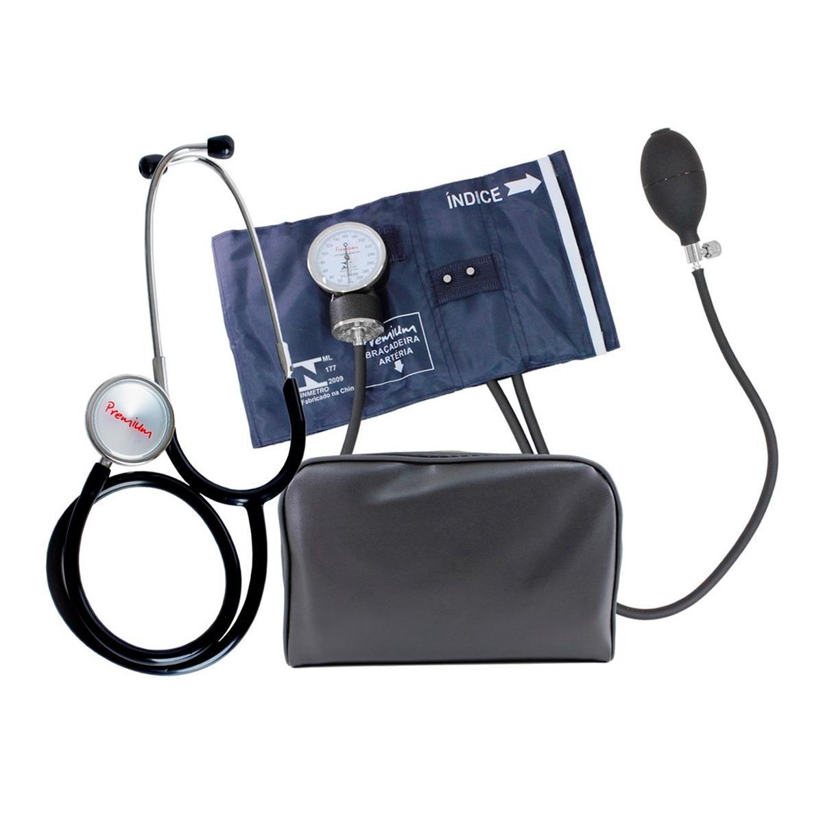 Aparelho De Pressão Accumed - Metal Com Estetoscópio Premium