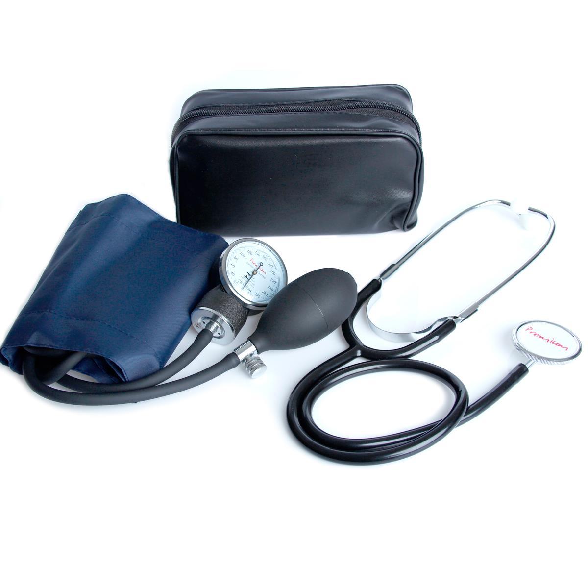Aparelho De Pressão Accumed - Velcro Com Estetoscópio Premium