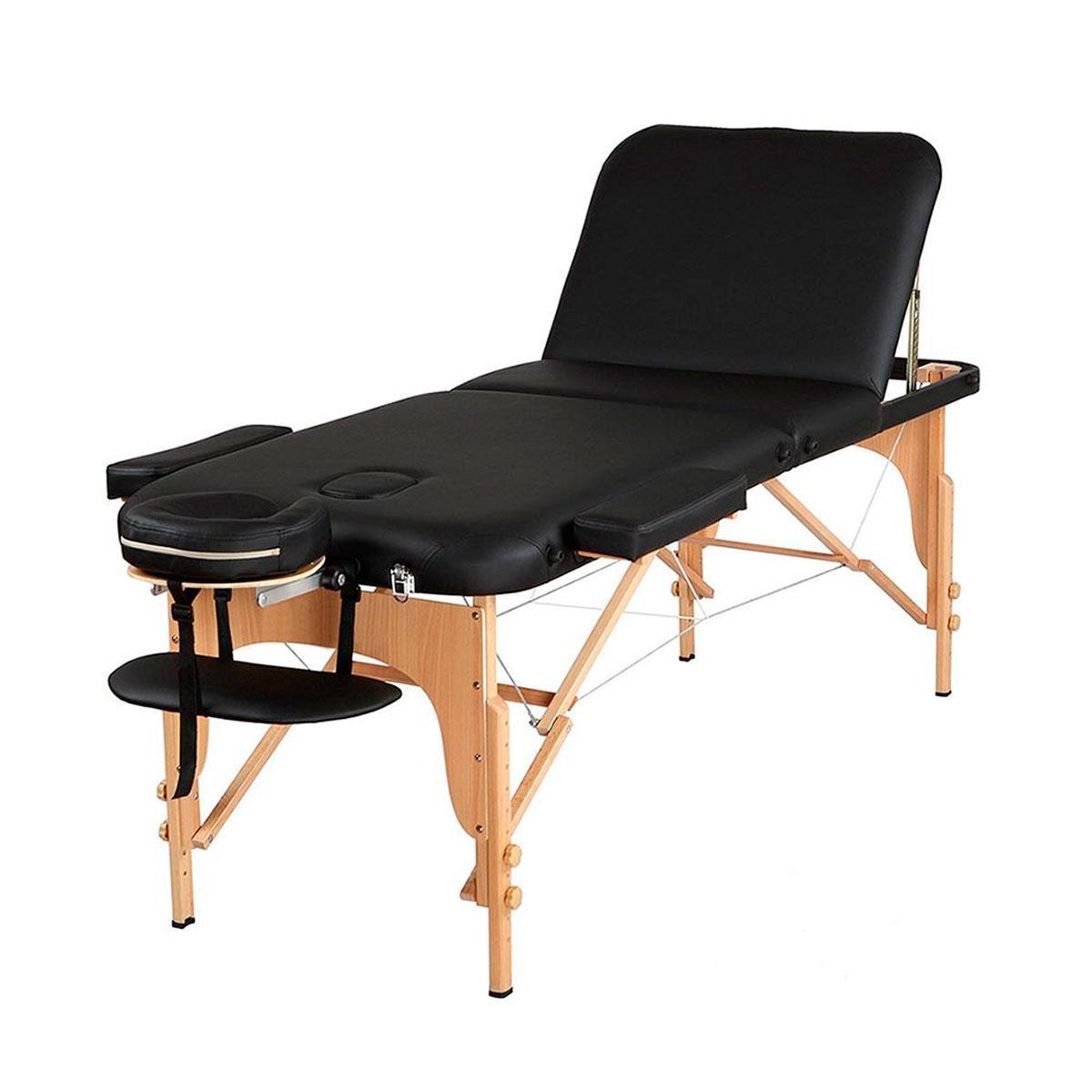 Maca De Massagem Portátil Reclinável Com Altura Regulável E Bolsa Para Transporte Premium Junior - Goldlife
