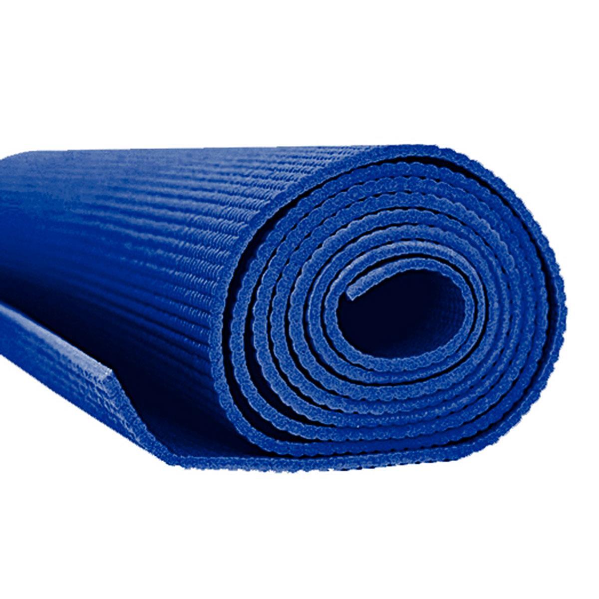 Tapete Para Yoga E Pilates Em Pvc Acte Sports Yoga Mat- Azul