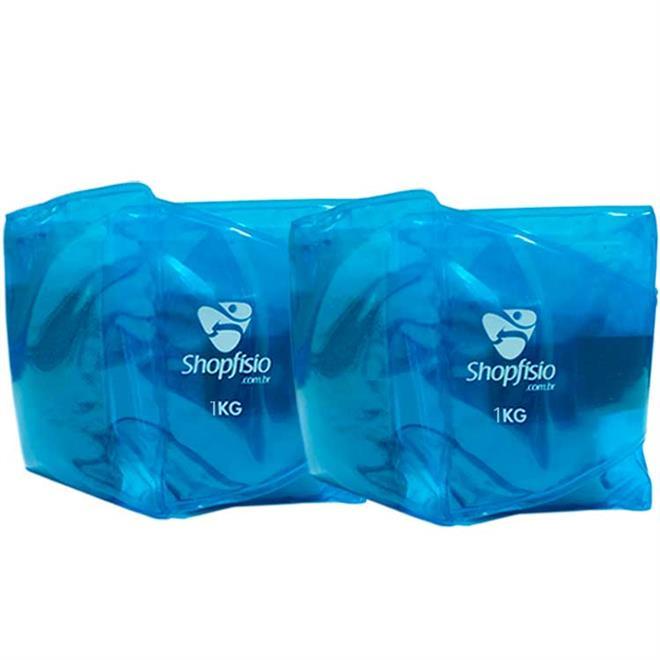 Tornozeleira Shopfisio - Caneleira Multifuncional Flexível - Par - 1Kg