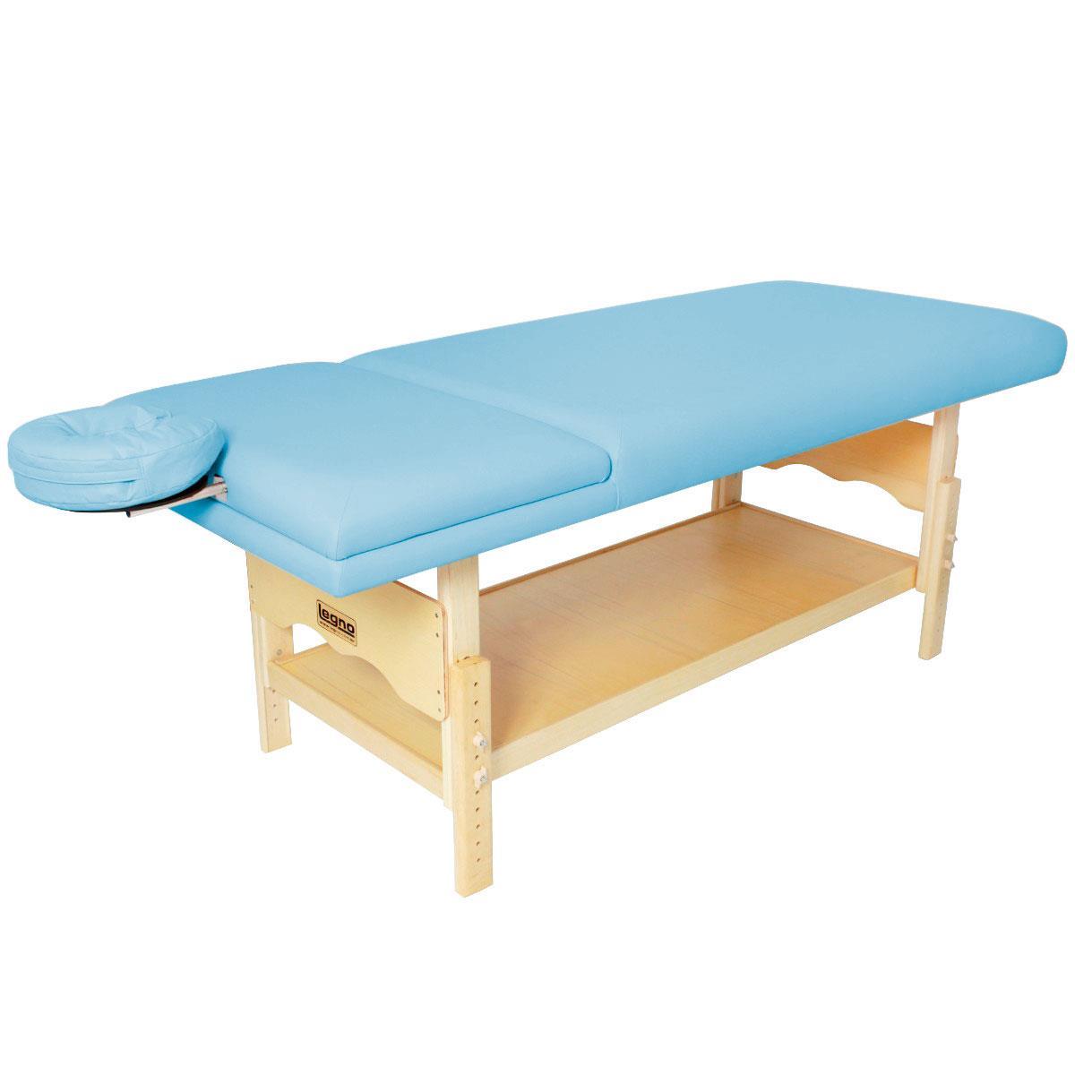 Maca De Massagem Reclinável Com Altura Regulável, Prateleira Inferior E Orifício Plêiades - Legno