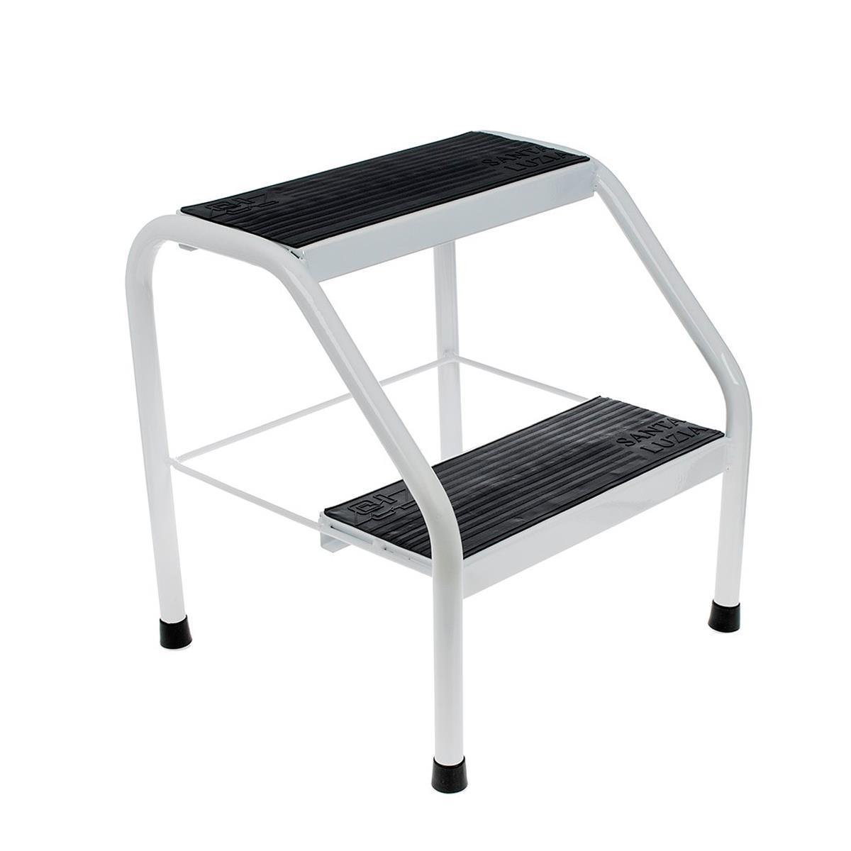 Escada Auxiliar Metal 2 Degraus Para Maca, Clínicas E Hospitais