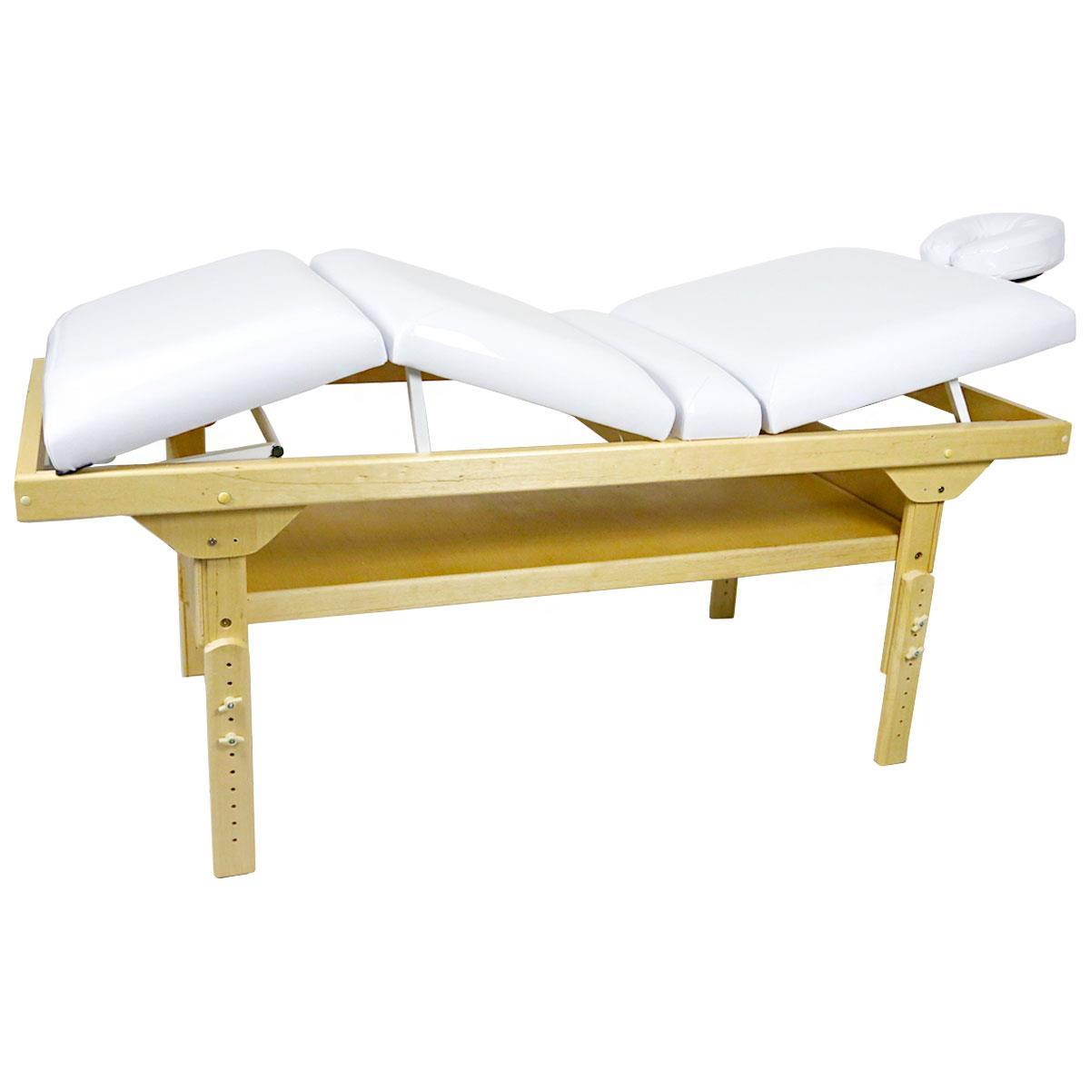 Maca De Massagem Fixa 3 Posições C/ Altura Regulável E Prateleira Inferior Belatrix Spa - Legno