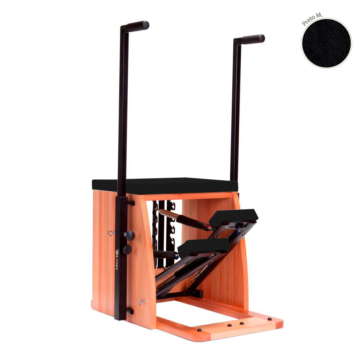 Aparelho De Pilates Step Chair Metalife - Reequilibração Muscular