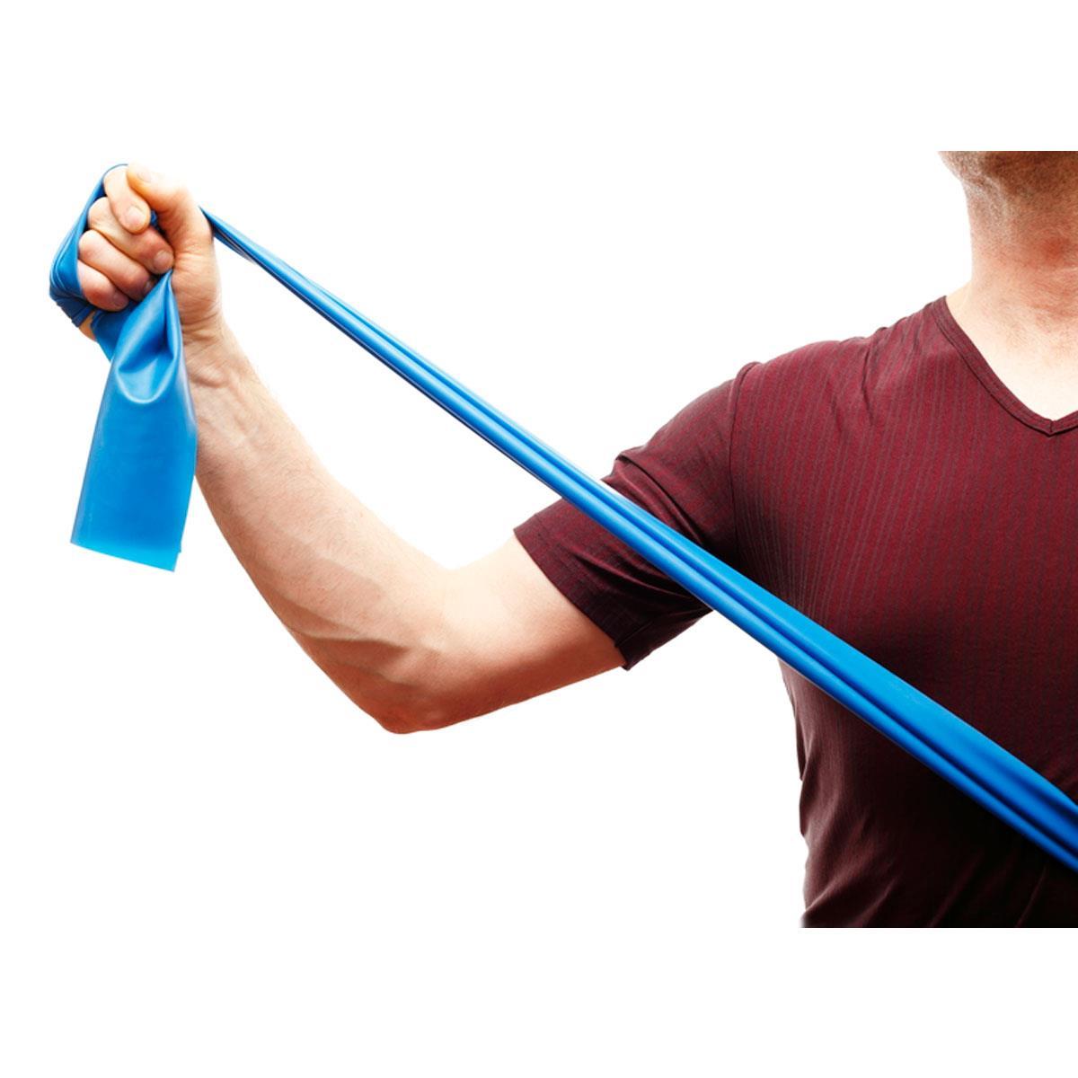 Faixa Elástica Thera Band - Azul Extra Forte - 1M - Exercícios E Fisioterapia