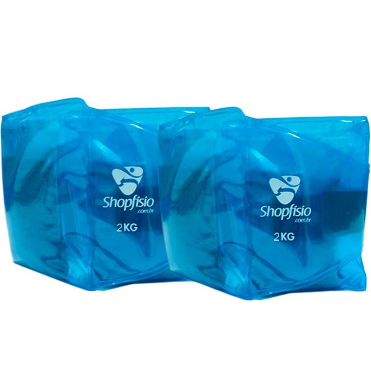 Tornozeleira Shopfisio - Caneleira Multifuncional Flexível - Par - 2Kg