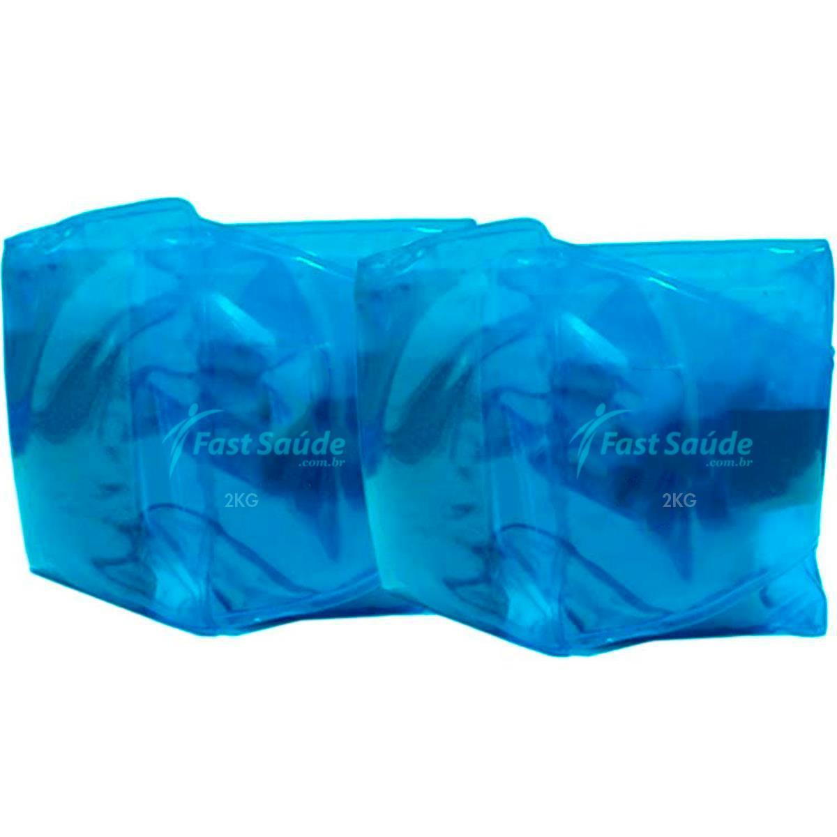Tornozeleira Fast Saúde - Caneleira Multifuncional Flexível - Par - 2Kg